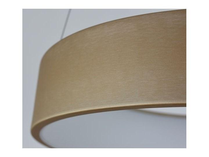 MCODO ::  Nowoczesna złota lampa led COSMO RP 36W 60cm z barwą ciepłą 3000K Lampa z kloszem Tworzywo sztuczne Kategoria Lampy wiszące Styl Nowoczesny