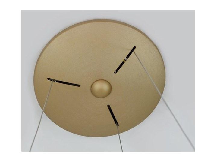 MCODO ::  Nowoczesna złota lampa led COSMO RP 36W 60cm z barwą ciepłą 3000K Lampa z kloszem Tworzywo sztuczne Styl Nowoczesny Kolor Złoty