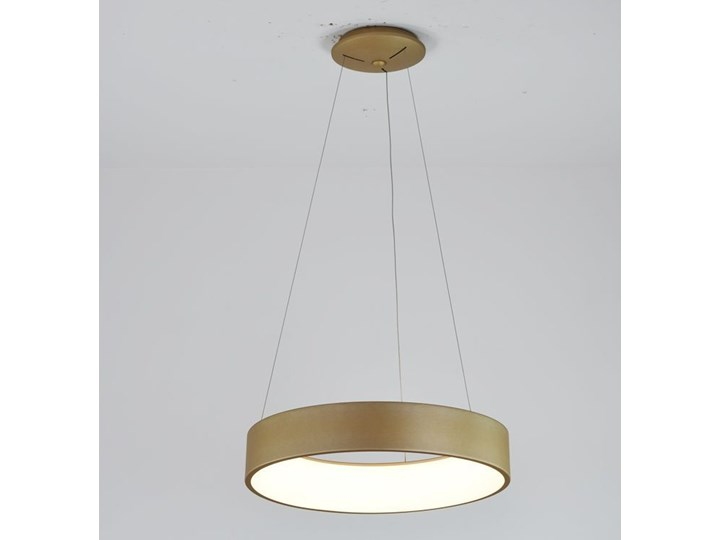 MCODO ::  Nowoczesna złota lampa led COSMO RP 36W 60cm z barwą ciepłą 3000K Tworzywo sztuczne Lampa z kloszem Kategoria Lampy wiszące