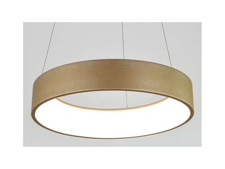 MCODO ::  Nowoczesna złota lampa led COSMO RP 36W 60cm z barwą ciepłą 3000K Tworzywo sztuczne Lampa z kloszem Styl Nowoczesny Kolor Złoty