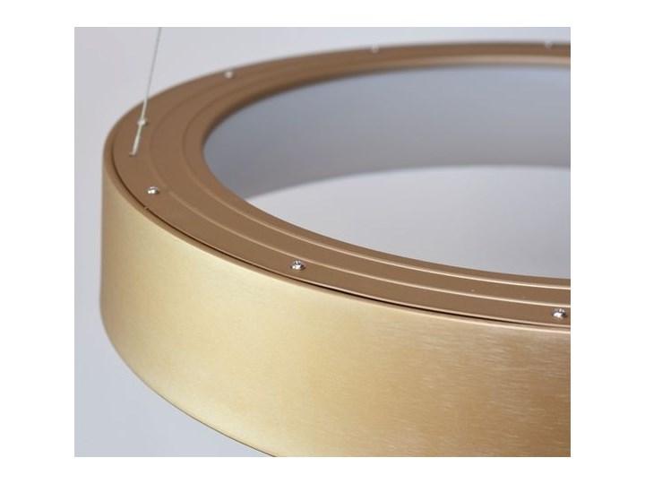 MCODO ::  Nowoczesna złota lampa led COSMO RP 36W 60cm z barwą ciepłą 3000K Lampa z kloszem Tworzywo sztuczne Kategoria Lampy wiszące