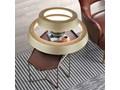MCODO ::  Ultranowoczesna lampa led  Orbit RP2  złota 60/40cm barwa ciepła 3000K Lampa z kloszem Tworzywo sztuczne Metal Kategoria Lampy wiszące