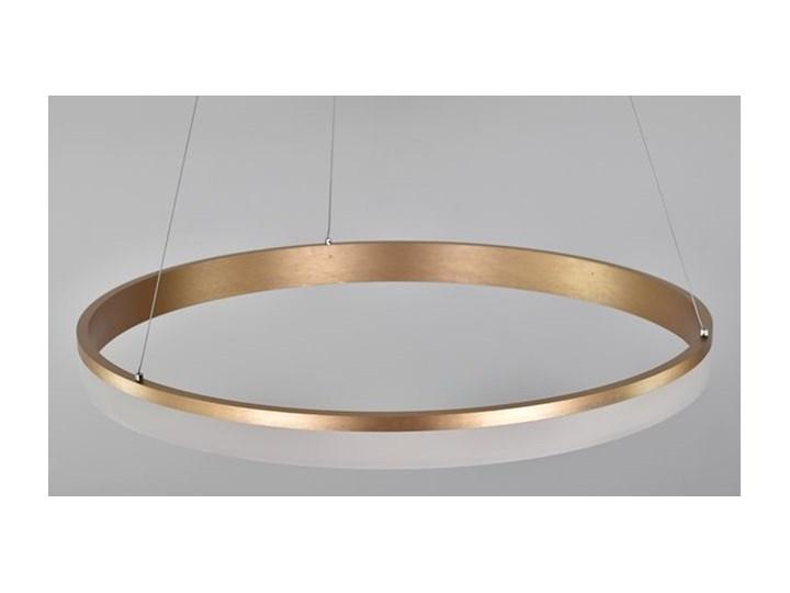 MCODO ::  Nowoczesna lampa led Saturn 48W w kolorze złotym 80cm barwa ciepła 2700K Metal Tworzywo sztuczne Pomieszczenie Salon