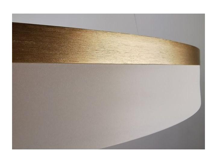 MCODO ::  Nowoczesna lampa led Saturn 48W w kolorze złotym 80cm barwa ciepła 2700K Tworzywo sztuczne Metal Kategoria Lampy wiszące
