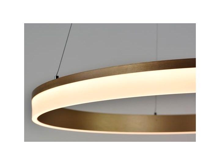 MCODO ::  Nowoczesna lampa led Saturn 48W w kolorze złotym 80cm barwa ciepła 2700K Tworzywo sztuczne Metal Styl Nowoczesny