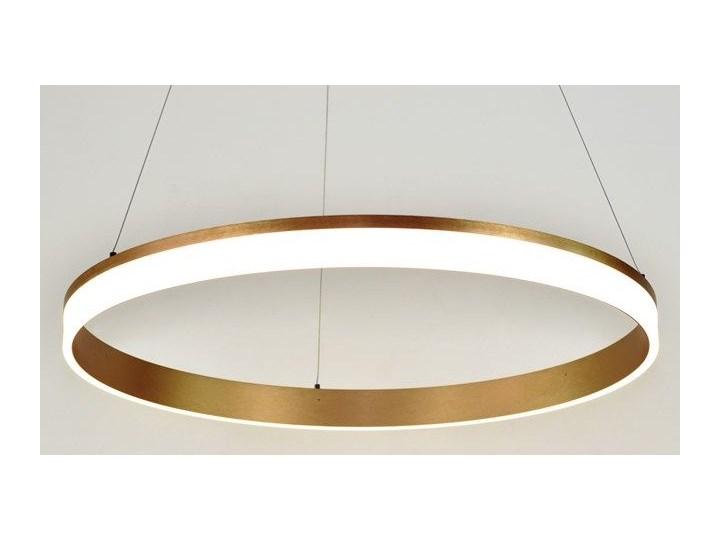 MCODO ::  Nowoczesna lampa led Saturn 48W w kolorze złotym 80cm barwa ciepła 2700K Metal Tworzywo sztuczne Styl Nowoczesny