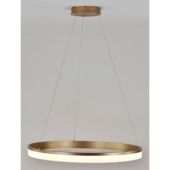 MCODO ::  Nowoczesna lampa led Saturn 48W w kolorze złotym 80cm barwa ciepła 2700K