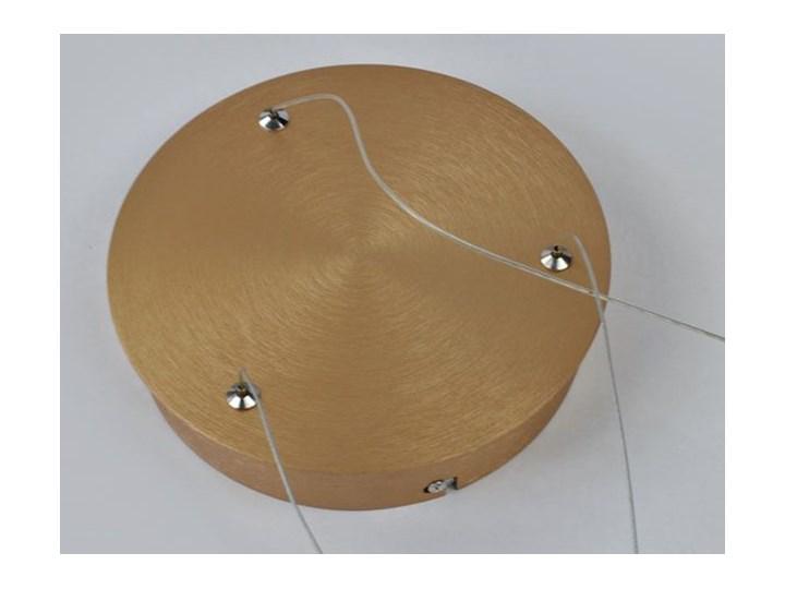 MCODO ::  Nowoczesna lampa led Saturn 48W w kolorze złotym 80cm barwa ciepła 2700K Tworzywo sztuczne Kolor Szary Metal Pomieszczenie Salon