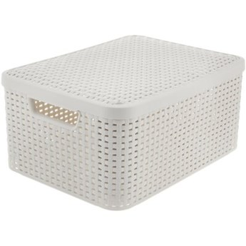 Koszyk CURVER Style Box M V2 + LID - OWH885 Kremowy