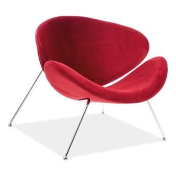 Fotel Major Velvet Chrome - 5 kolorów bordowy