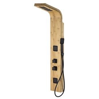 Panel prysznicowy Corsan Bao B022 bambusowy z czarnym wykończeniem i termostatem