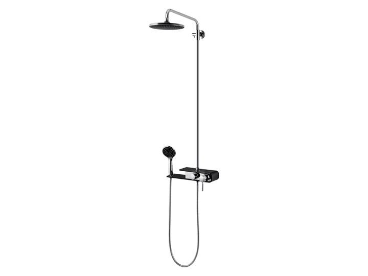 Natryskowa kolumna prysznicowa Corsan Klar Fiber CMN002 czarna Wyposażenie Z uchwytem Kolor Czarny