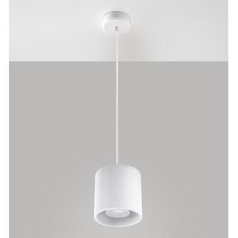SOLLUX Okrągła lampa wisząca Orbis Biały walec LED! Oprawa Sufitowa Minimalistyczne oświetlenie