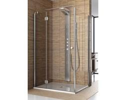 Ścianka prysznicowa boczna SOL DE LUXE 80 profil chrom, szkło przejrzyste 06058 Aquaform_DARMOWA DOSTAWA !!!