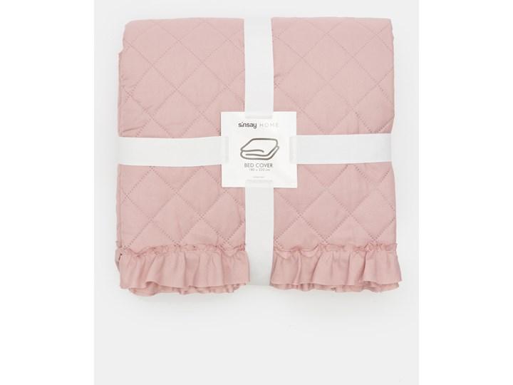 Sinsay - Narzuta na łóżko 180x220 - Różowy Pomieszczenie Sypialnia 180x220 cm Kategoria Narzuty