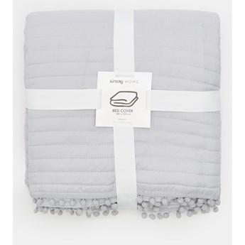 Sinsay - Narzuta na łóżko 180x220 - Jasny szary