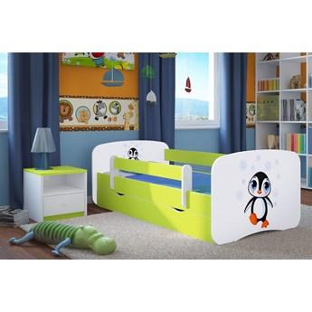 Łóżko dziecięce ze stelażem Happy 2X mix 80x180 - zielone