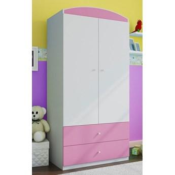 Szafa dla dziewczynki z szufladami Happy 3X - różowa