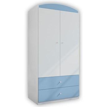 Szafa dla chłopca z szufladami Happy 3X - niebieska