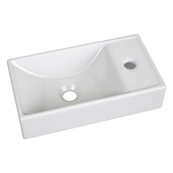 Ceramiczna umywalka prostokątna Sonet - biała