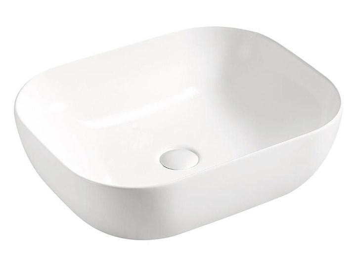 Umywalka nablatowa ceramiczna Pavona - Biała Owalne Nablatowe Kolor Biały Ceramika Kategoria Umywalki