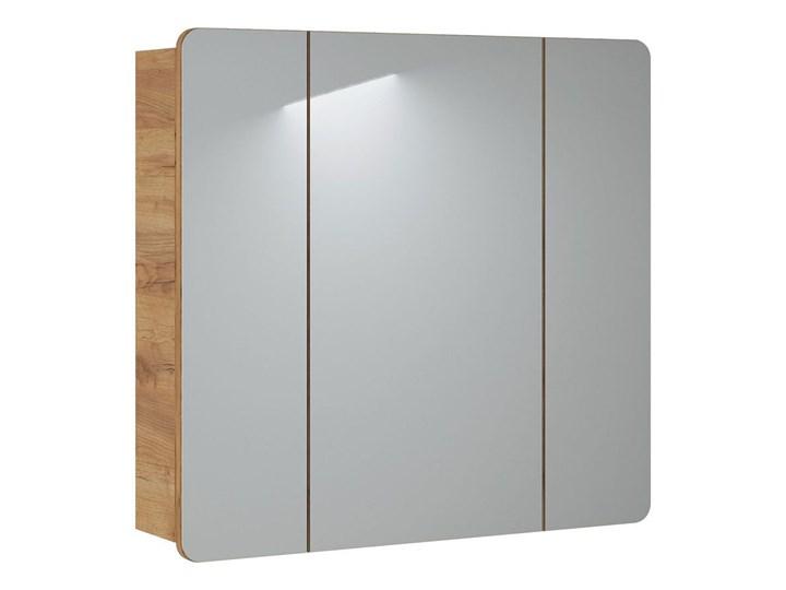 Podwieszana szafka łazienkowa z lustrem - Borneo 14X Wiszące Rodzaj frontu Drzwiczki Szafki Szerokość 80 cm Wysokość 75 cm Kategoria Szafki stojące