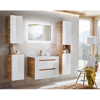 Zestaw podwieszanych mebli łazienkowych Borneo 3Q 60 cm - Biały połysk