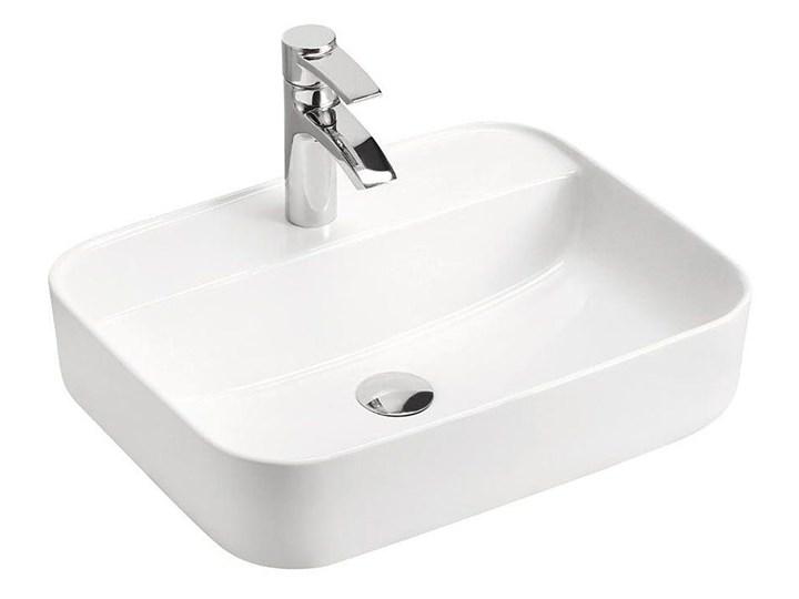 Ceramiczna umywalka nablatowa Rafina 2X - Biała Ceramika Prostokątne Nablatowe Kolor Biały Kategoria Umywalki