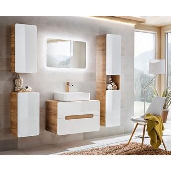 Komplet wiszących mebli łazienkowych Borneo 4Q 80 cm - Biały połysk