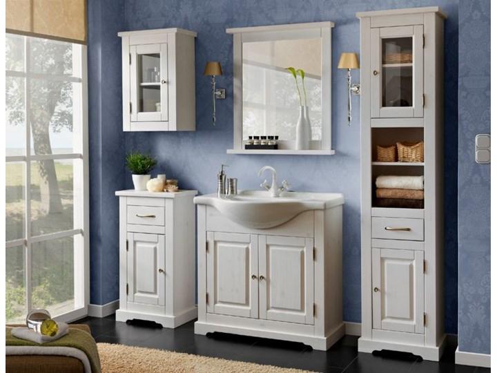 Zestaw drewnianych szafek łazienkowych Dorset 85 Kategoria Zestawy mebli łazienkowych Kolor Biały