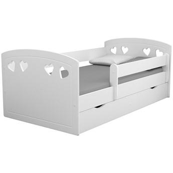 Łóżko dla dziewczynki z barierką Nolia 2X 80x160 - białe