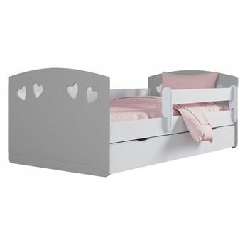 Łóżko dla dziewczynki z szufladą Nolia 3X 80x140 - szare