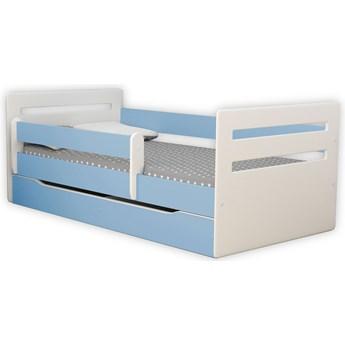 Łóżko chłopięce z szufladą Candy 2X 80x160 - niebieskie