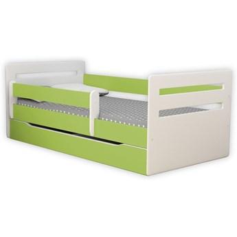 Łóżko dla dziecka z barierką Candy 2X 80x160 - zielone
