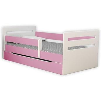 Łóżko dla dziewczynki z materacem Candy 2X 80x180 - różowe