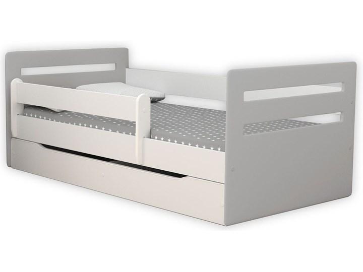 Łóżko dla dziecka z materacem Candy 2X mix 80x140 - szare Płyta MDF Kategoria Łóżka dla dzieci Płyta meblowa Metal Drewno Rozmiar materaca 80x140 cm