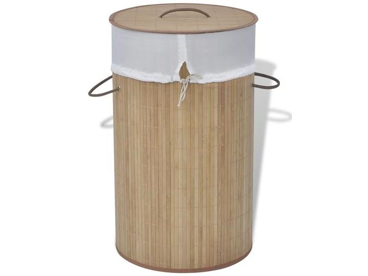 Bambusowy kosz na pranie Lavandi 2X- naturalny Drewno Kategoria