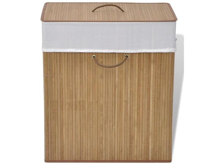 Bambusowy pojemnik na pranie Lavandi 4X - naturalny Drewno Kategoria