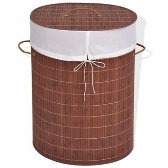 Owalny kosz z bambusa Lavandi 3X - brązowy