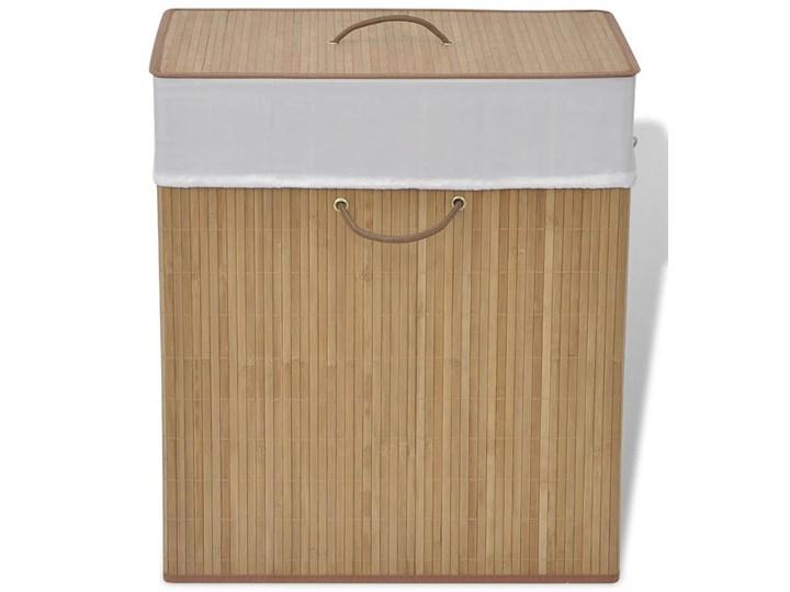 Kosz na pranie z drewna bambusa Lavandi 5X - naturalny Drewno Kategoria Kolor Beżowy