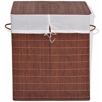 Pojemnik bambusowy zamykany Lavandi 5X - brązowy