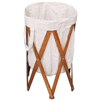 Składany kosz na pranie Conga - kremowy