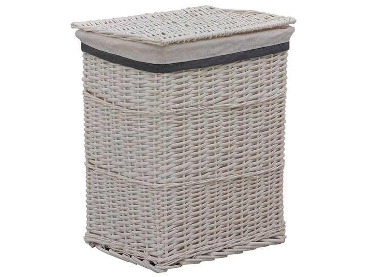 Wiklinowy kosz na pranie Riten - biały Wiklina Kategoria
