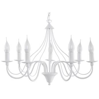 Żyrandol retro świecznik E755-Minerwi - biały