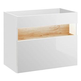 Szafka pod umywalkę Monako 2X 80 cm - Biały połysk