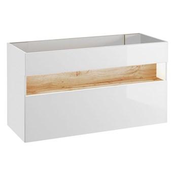 Szafka pod umywalkę Monako 2X 120 cm - Biały połysk