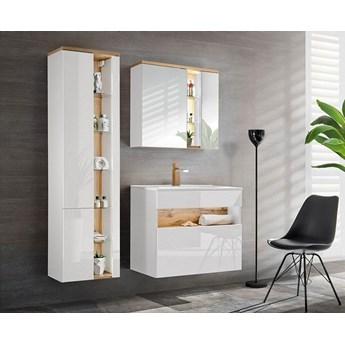 Komplet mebli łazienkowych Monako 4Q 80 cm - Biały połysk