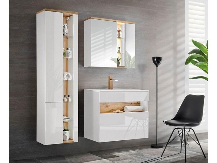 Komplet mebli łazienkowych Monako 4Q 80 cm - Biały połysk Kategoria Zestawy mebli łazienkowych