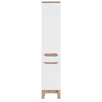 Słupek łazienkowy stojący Marsylia 2X - Biały połysk