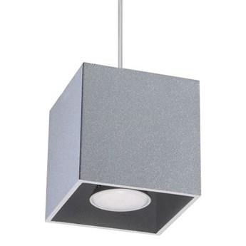 Lampa wisząca kostka LED E816-Quas - szary